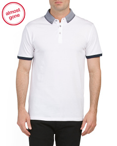 Jersey Polo With Contrast Collar