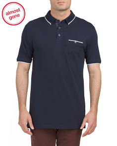 Mercerized Pique Polo With Tipping