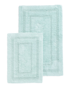Made In India Set Of 2 Spa Bath Rugs