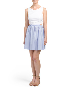 Juniors Luxe Side Cut Out Dress