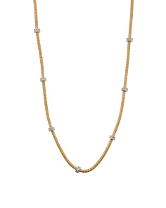 Made In Israel 14k Gold Diamond Cocoon Necklace