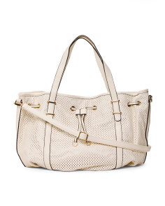 Perforated Drawstring Large Hobo