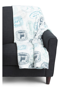 Global Stamps Plush Throw