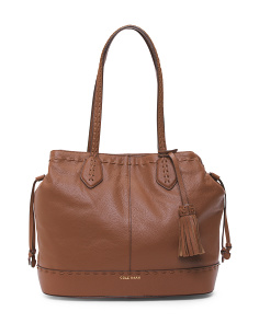 Allesa Drawstring Leather Tote