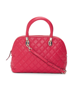 Benson Quilted Leather Dome Satchel