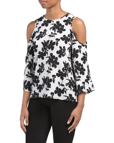 Petite Cold Shoulder Fresco Blouse