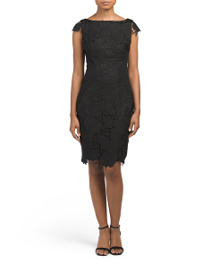 Made In USA Silk Jamila Lace Dress