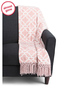 Dalia Chenille Fringe Throw