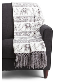 Elephant Fringe Throw