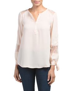 Top With Lace Inset