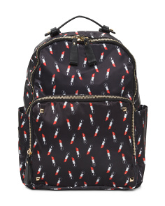Lipstick Print Backpack