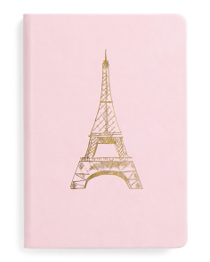 Eiffel Tower Faux Leather Journal