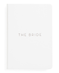 The Bride Faux Leather Journal
