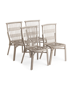 Set Of 4 Outdoor Bistro Chairs