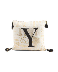 Made In India 16x16 Monogram Pillow