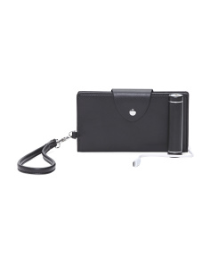 Leather Smart Phone Wallet With Charger