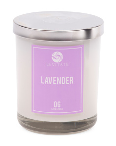 Lavender Glass Jar Candle