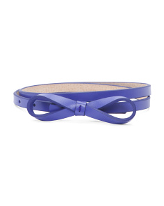 Bow Leather Belt