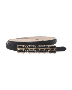 Women's Jeweled Metallic Leather Belt