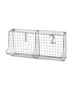 20in Double Slot Wire Wall Organizer