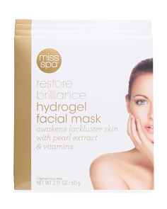 Made In Korea 4pk Restore Brilliance Hydrogel Facial Masks