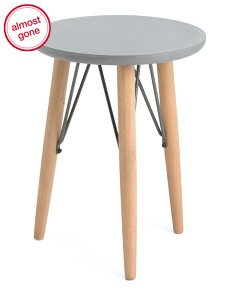 Round Mix Media Accent Table
