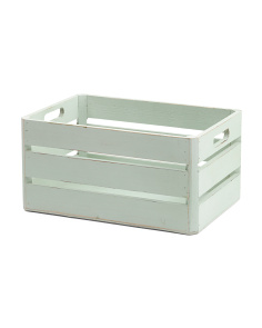 Medium Wood Slat Storage Bin