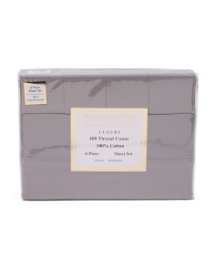 6pc 400tc Sateen Sheet Set