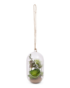 Hanging Faux Succulents