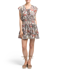 Floral Printed Ruffle Dress