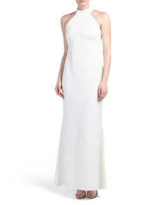 Made In USA Halter Gown
