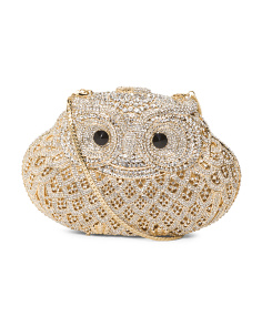 Gold Crystal Owl Bag