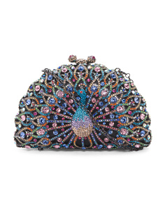 Peacock Multi Crystal Bag