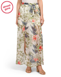 Juniors Floral Maxi Skirt
