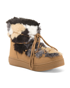 Faux Fur Booties