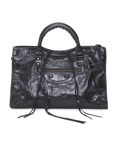 Made In Italy Classic City Leather Bag