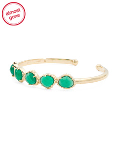 Made In India 14k Gold Plate Chrysoprase Bracelet