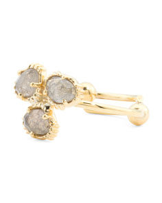 Made In India 14k Gold Plate Labradorite Cluster Ring