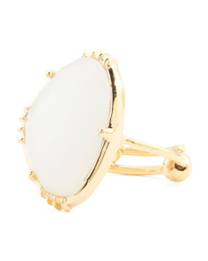 Made In India 14k Gold Plate Moonstone Ring