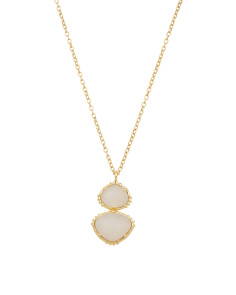 Made In India 14k Gold Plate Moonstone Necklace