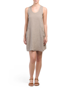 Made In Italy Linen Swing Dress