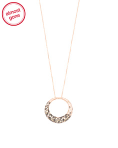 Made In USA 14k Rose Gold Multicolor Diamond Necklace