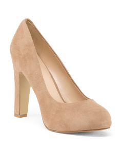 Suede Hidden Platform Pumps