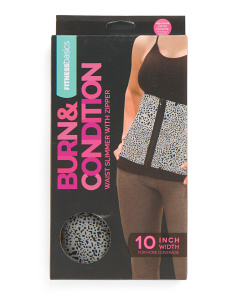 10in Slimmer Belt With Zipper