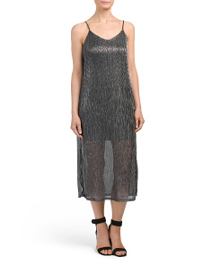 Metallic Midi Slip Dress