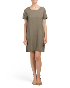 Tee Dress With Pockets