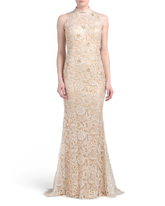 High Neck Lace Gown