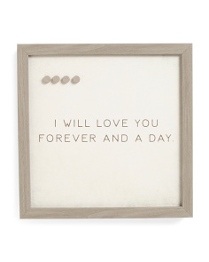 16x16 Love You Forever Magnet Board