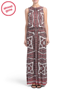Paisley Medallion Maxi Dress