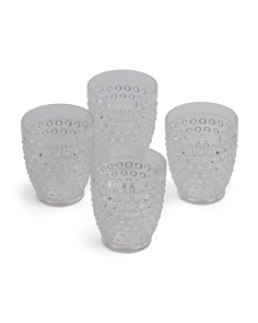 4pk Outdoor Hobnail Tumblers